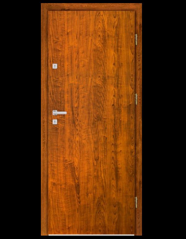 Drzwi wejściowe HDF gładkie jasny brąz