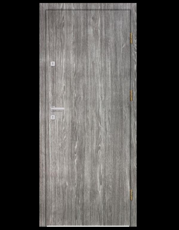 Drzwi wejściowe HDF gładkie szare