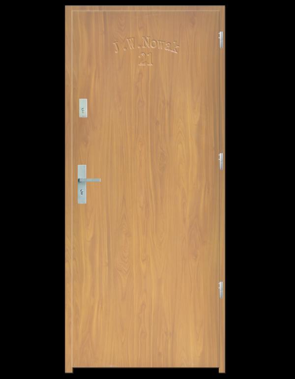 Drzwi wejściowe D10 Dąb Bielony