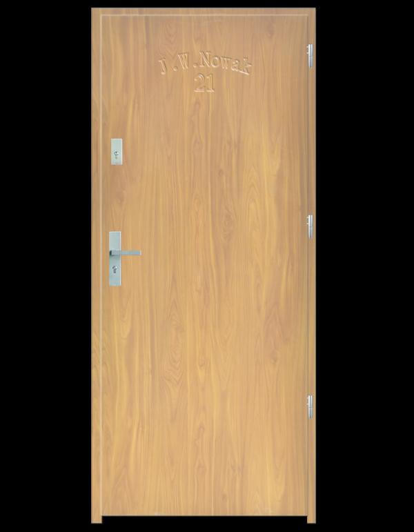 Drzwi wejściowe D10 Dąb Patyna