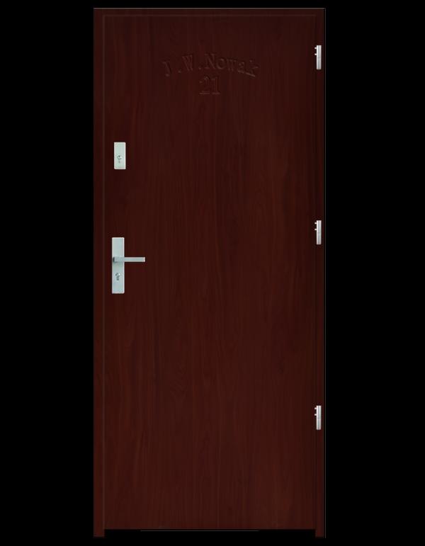 Drzwi wejściowe D10 Mahoń