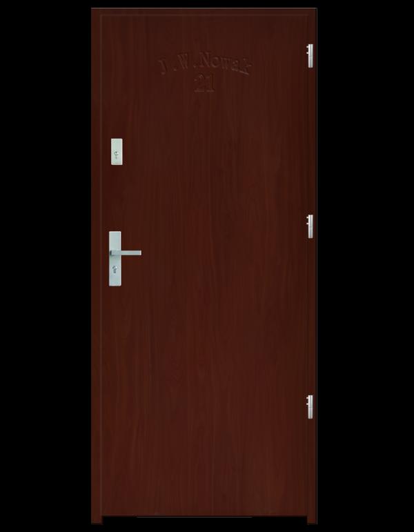 Drzwi wejściowe D10 Wiśnia
