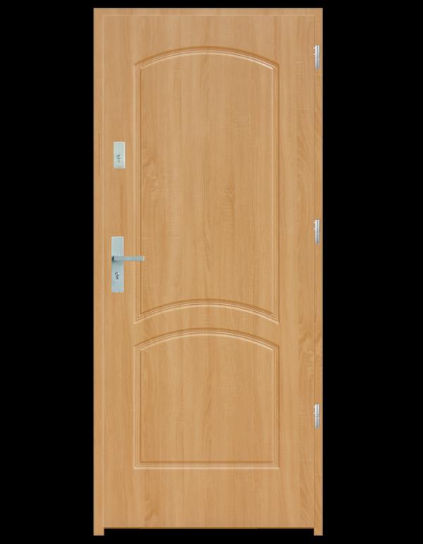 Drzwi wejściowe D2 Dąb Patyna