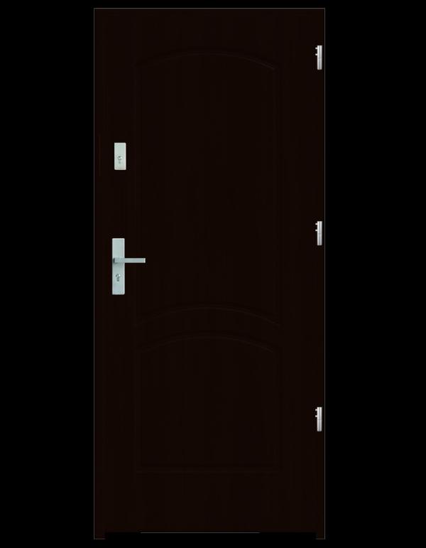 Drzwi wejściowe D2 Kasztan