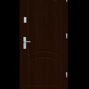 Drzwi wejściowe D2 Orzech Jasny