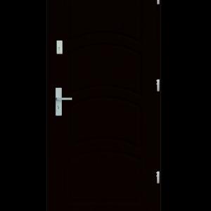 Drzwi wejściowe D44 Kasztan