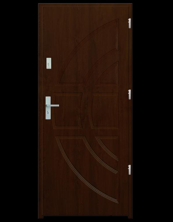 Drzwi wejściowe Dioryt Orzech Jasny