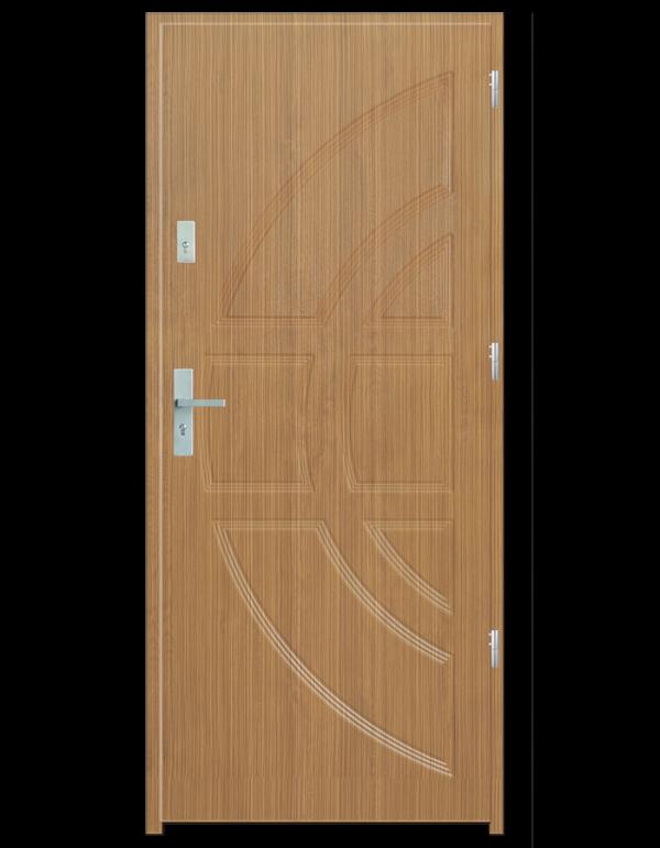 Drzwi wejściowe Dioryt Zebrano