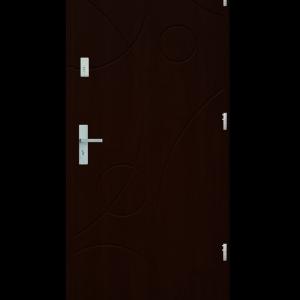 Drzwi wejściowe Galaxy Orzech Ciemny