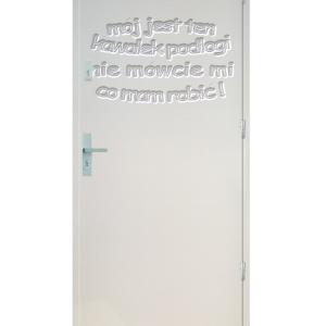 Drzwi wejściowe Indywidualne tekst