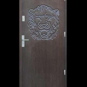 Drzwi wejściowe Indywidualne duży lew