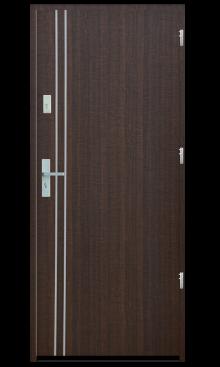 Drzwi wejściowe gładkie z listwą Z1