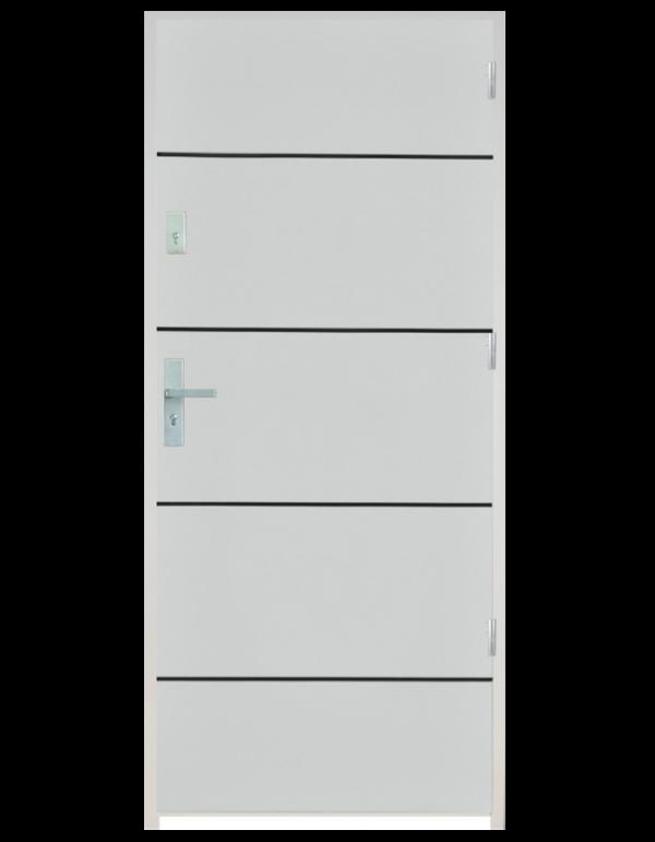Drzwi wejściowe gładkie z listwą Z10