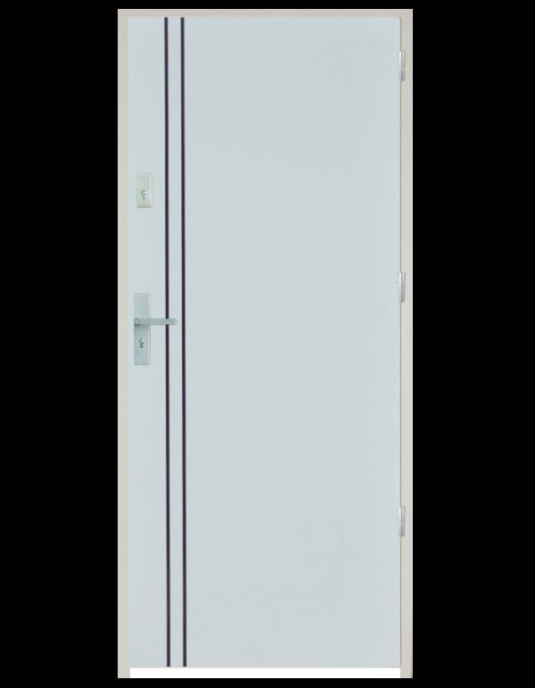 Drzwi wejściowe gładkie z listwą Z11
