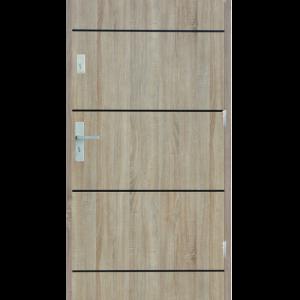 Drzwi wejściowe gładkie z listwą Z12