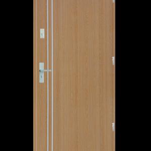 Drzwi wejściowe gładkie z listwą Z2