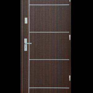 Drzwi wejściowe gładkie z listwą Z3