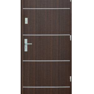 Drzwi wejściowe gładkie z listwą Z4