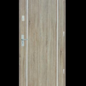 Drzwi wejściowe gładkie z listwą