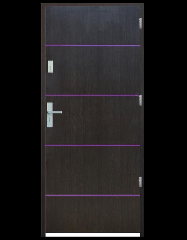 Drzwi wejściowe gładkie z listwą Z7