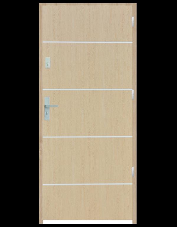 Drzwi wejściowe gładkie z listwą Z8