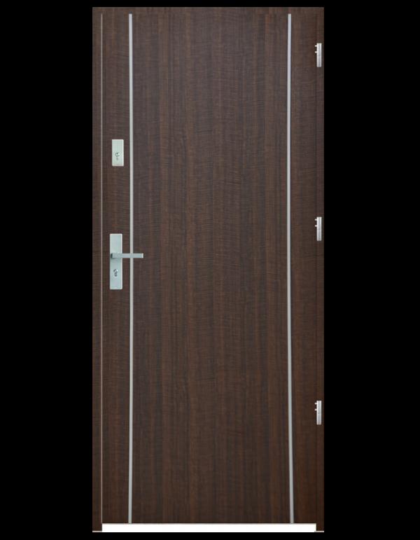 Drzwi wejściowe gładkie z listwą Z9