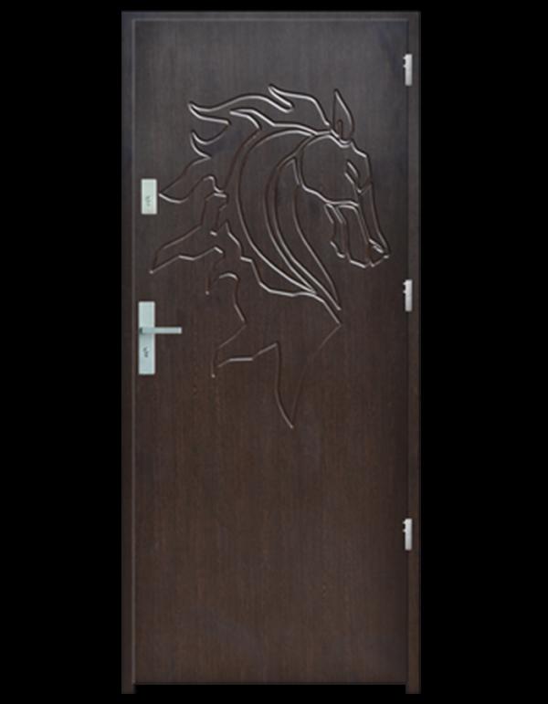 Drzwi wejściowe Indywidualne koń