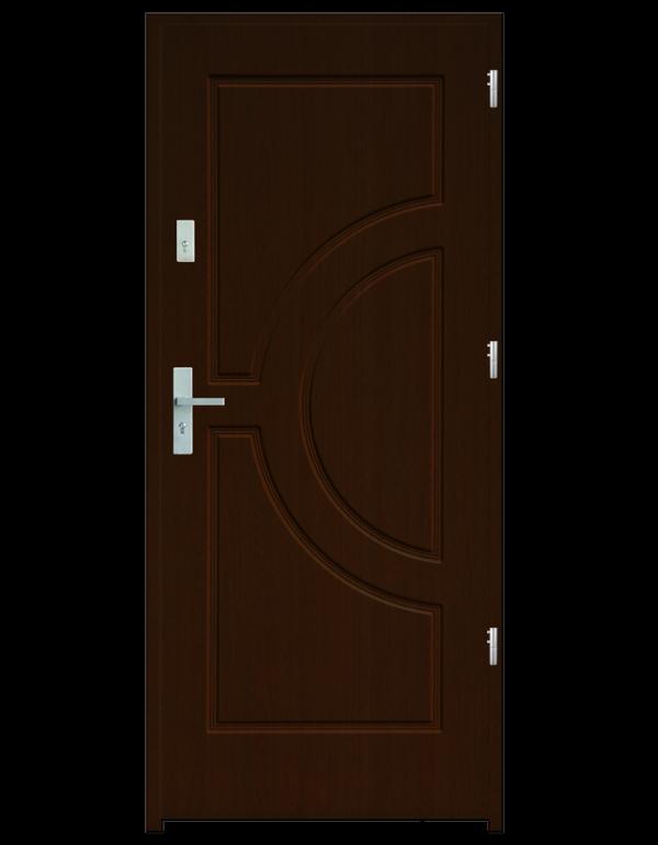 Drzwi wejściowe Helios Orzech Jasny