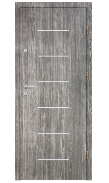 Drzwi wejściowe INOX F1