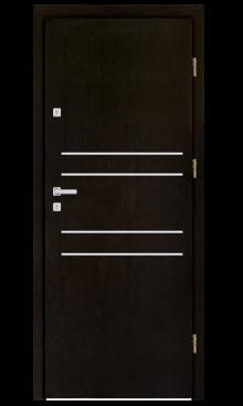Drzwi wejściowe INOX F5