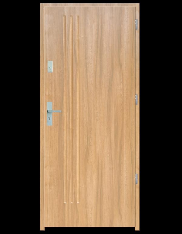 Drzwi wejściowe L3 Dąb Patyna