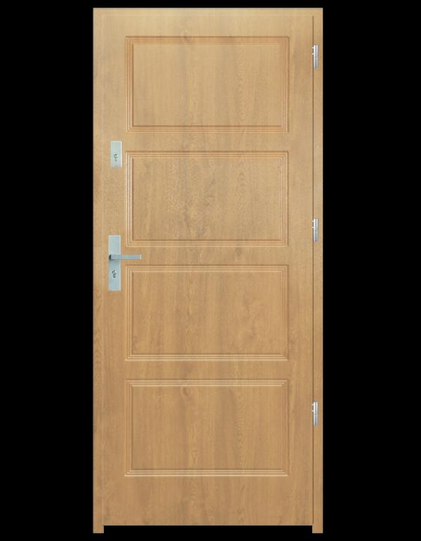 Drzwi wejściowe MAX Dąb Patyna