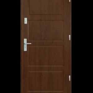Drzwi wejściowe MAX Dąb Złoty