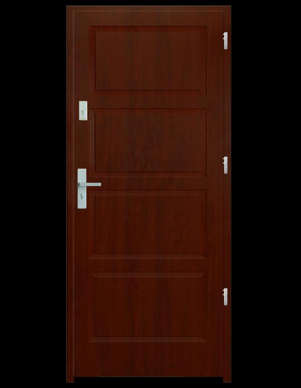 Drzwi wejściowe MAX Mahoń