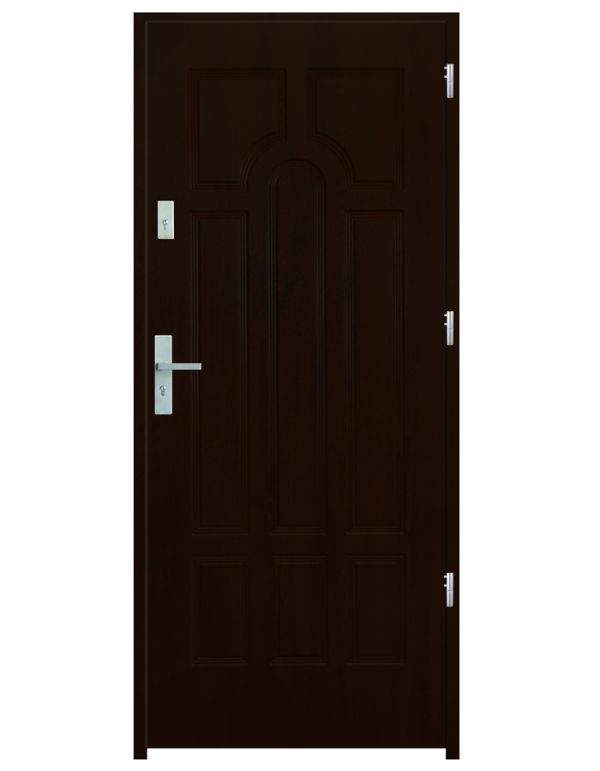 Drzwi wejściowe Szafir Orzech Ciemny